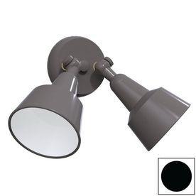 Remcraft Lighting Swedish Modern Black Outdoor Flush Mount Light 2031