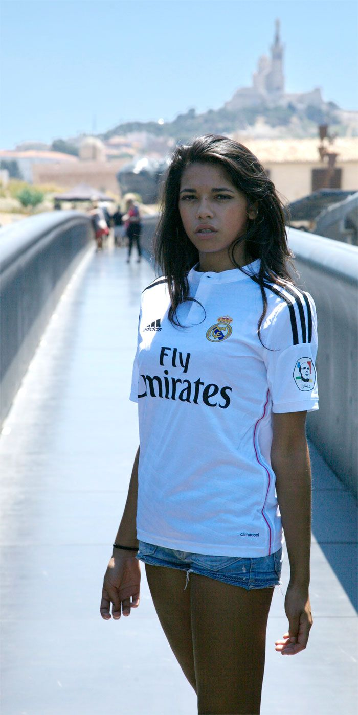 Real Madrid girl on the bridge