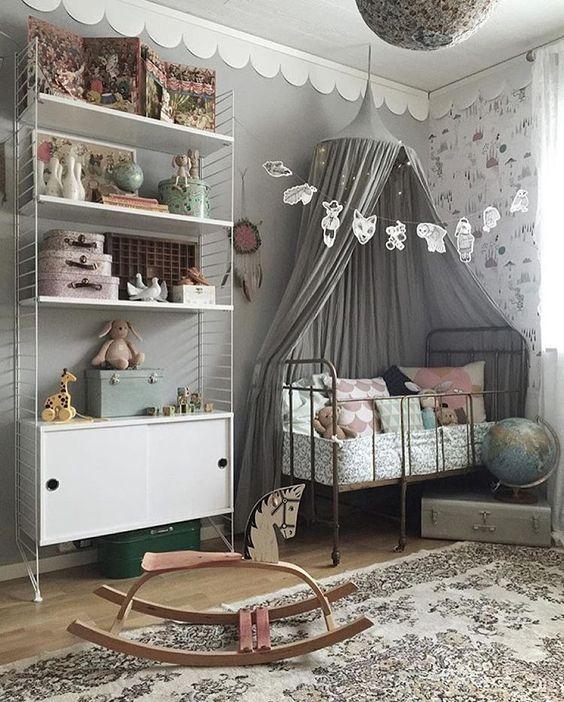 Mejores 200 imágenes de Habitaciones Bebe Niña en Pinterest | Cuna ...