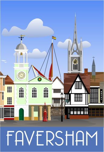 Faversham Town Centre, Market Place. This is the picture that started it all. Now have over 85 images!