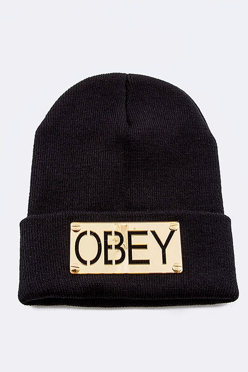 OBEY Beanie www.gatzino.com -  For more amazing deals visit us at http://www.brides-book.com/#!brides-book-outlets/ck9l and remember to join the VIB Ciub