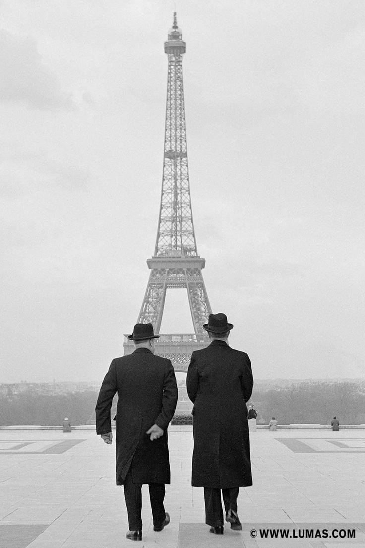 Konrad Adenauer und André François-Poncet, Paris, © Erich Lessing, www.lumas.com