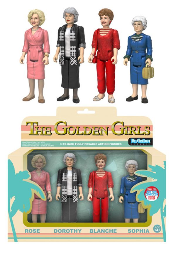 2016 NYCC Exclusive Golden Girls ReAction Figures Boxset - - Action Figures Toys…