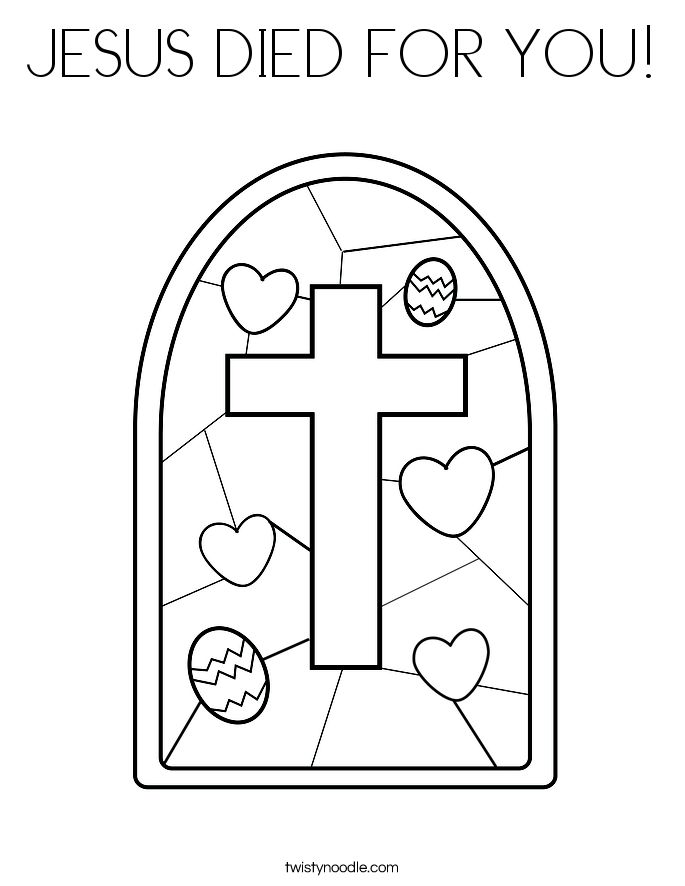 Jesus Death And Resurrection Coloring Pages