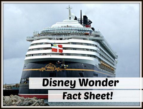 Disney Wonder Fact Sheet #DCL #DisneyCruise