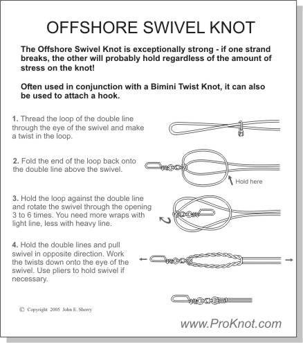 Offshore swivel knot fishing pinterest knots for Fishing swivel knot