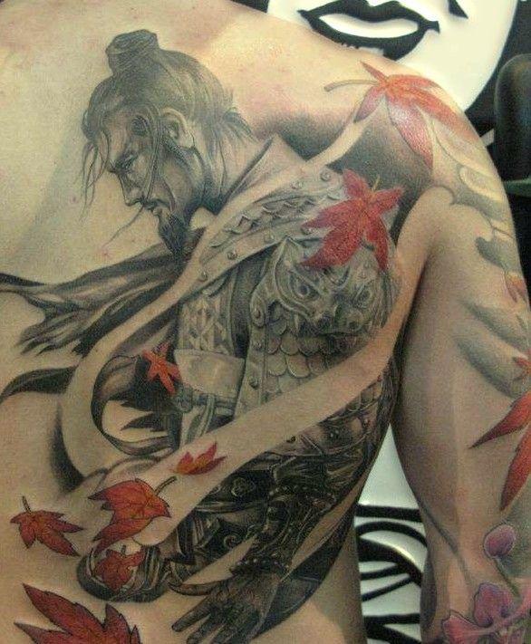 samuraj tatuaż na plecach #samuraje #tatuaże