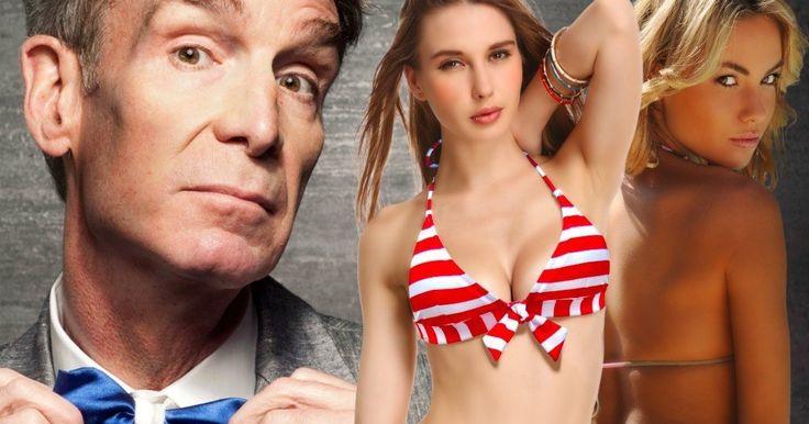 Watch Bill Nye Surprise Bikini Girls Shooting a Snapchat Video -- Bill Nye the Science Guy got a little bit more than he bargained when he recently entered a Las Vegas elevator. -- http://tvweb.com/bill-nye-surprises-bikini-girls-video-snapchat/