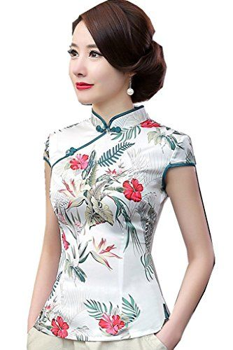 0b79c5af6 Pin by ayn kea on annas clothes | Chinese shirt, Blouses for women ...