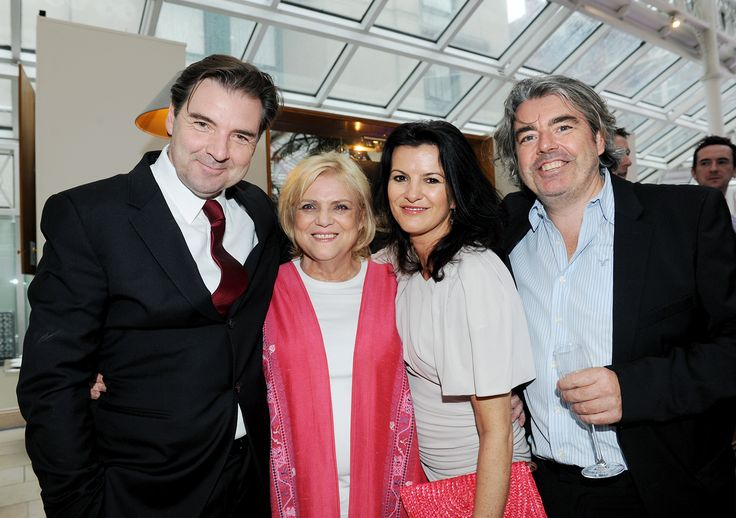 Photo of Brendan Coyle & his friend  Christina Noble