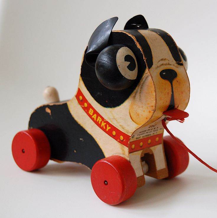 Fisher Price Boston Terrier Barky Pull Toy