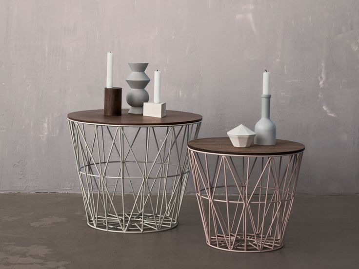 Table basse ronde en fer WIRE BASKET | Table basse - ferm LIVING