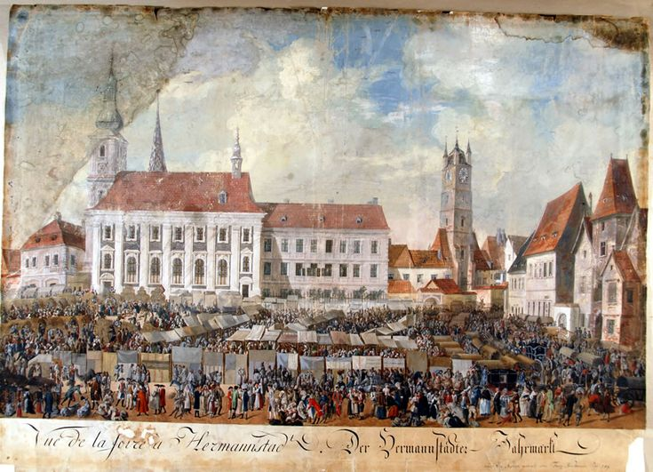 Franz Neuhauser the Younger - Târg anual la Sibiu, 1789