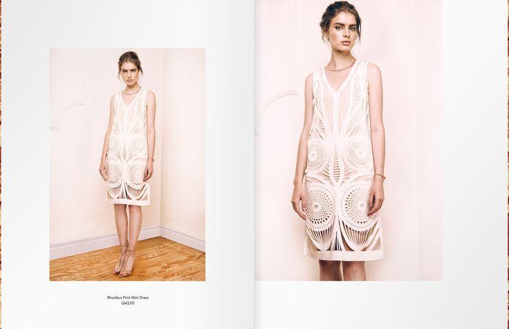 Rosette Print Dress