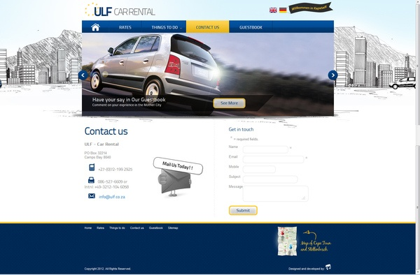 Ulf Car Rental Cape Town by Calvin Smith, via Behance: Cars Rental, Calvin Smith, Web Design,  Website, Ulf Cars, Capes Town, Rental Capes, Cape Town, Design Stuff