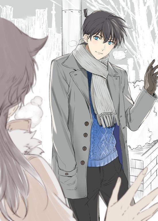 Ran et Shinichi... C'est absolument magnifique :')