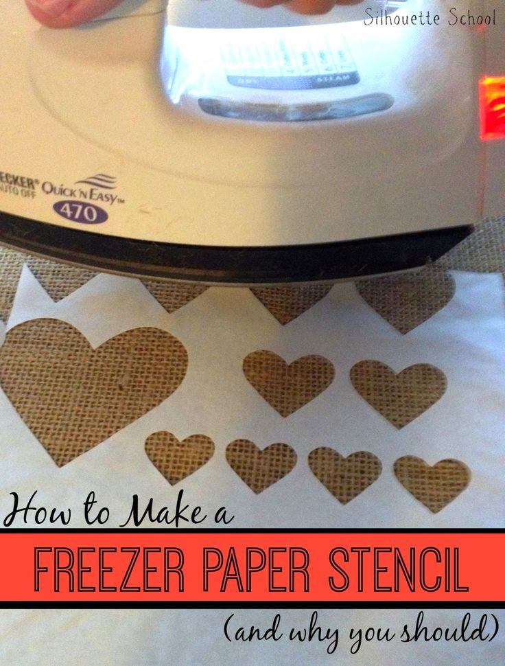 Freezer Paper Stencil: Silhouette Tutorial for a No Bleed, No Fail Paint Stencil ~ Silhouette School
