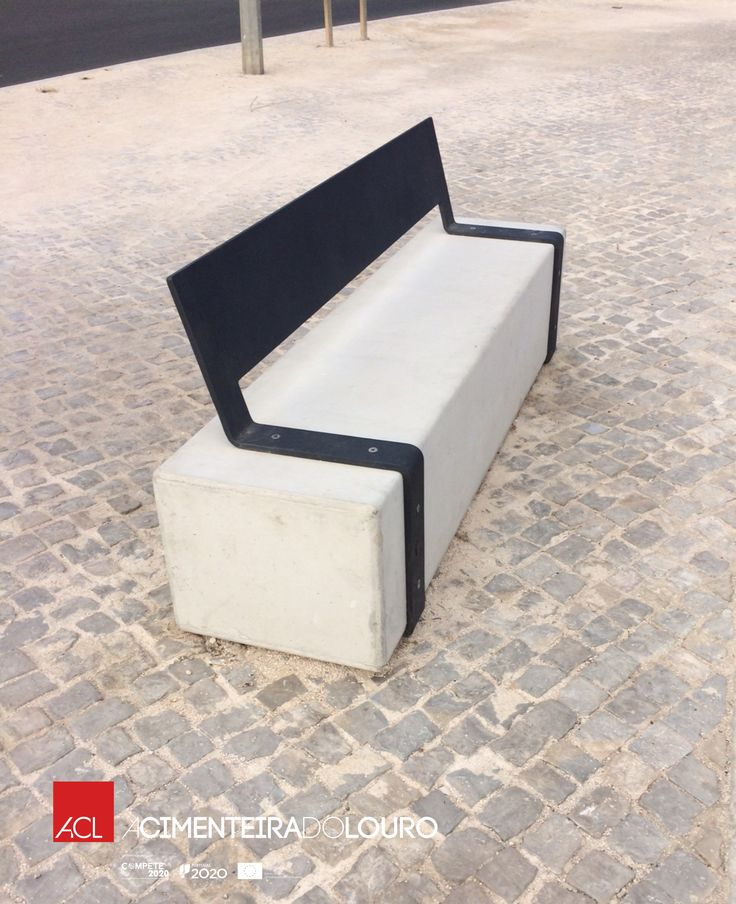Desfrute dos espaços públicos! Veja como ficou! Banco de Jardim Mod. Funchal  -- Enjoy the public spaces! Take a look! Park bench Mod. Funchal