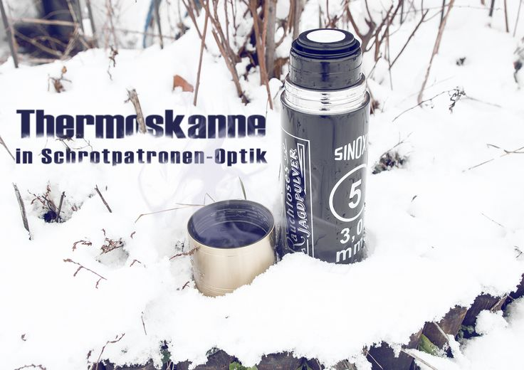 Thermoskanne in Schrotpatronen-Optik von Rottweil - 750ml Inhalt #shootclub #airsoft #softair