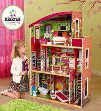 Kidkraft Designer Dollhouse And Furniture Set, Barbie Houses With Furniture,  Kids Deals