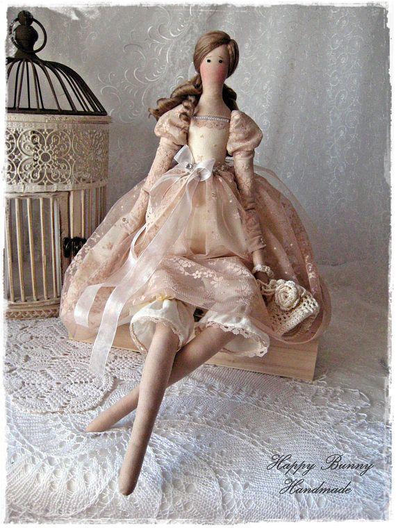 Tilda doll Barefoot Princess Doll Textile doll Primitive doll
