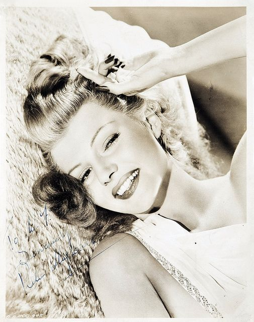 Rita Hayworth - loved her cheeky smile as well as pulling off sultry. A wonder to watch on the silver screen.
