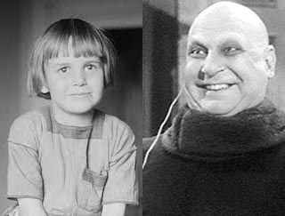 Born October 26, 1914 Child Actor, Jackie Coogan!    Couldn't resist this one!    Jackie Coogan — ADORABLE as a kid and kinda 'cute' as Uncle Fester too!!!