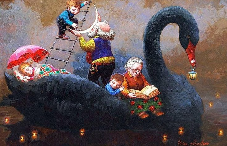 Художник Виктор Низовцев. Детские иллюстрации. Каждый вечер