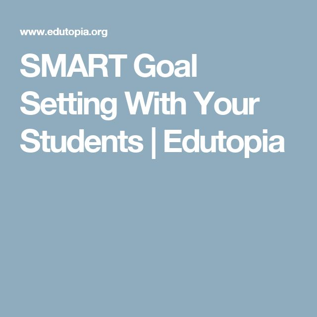 SMART Goal Setting With Your Students