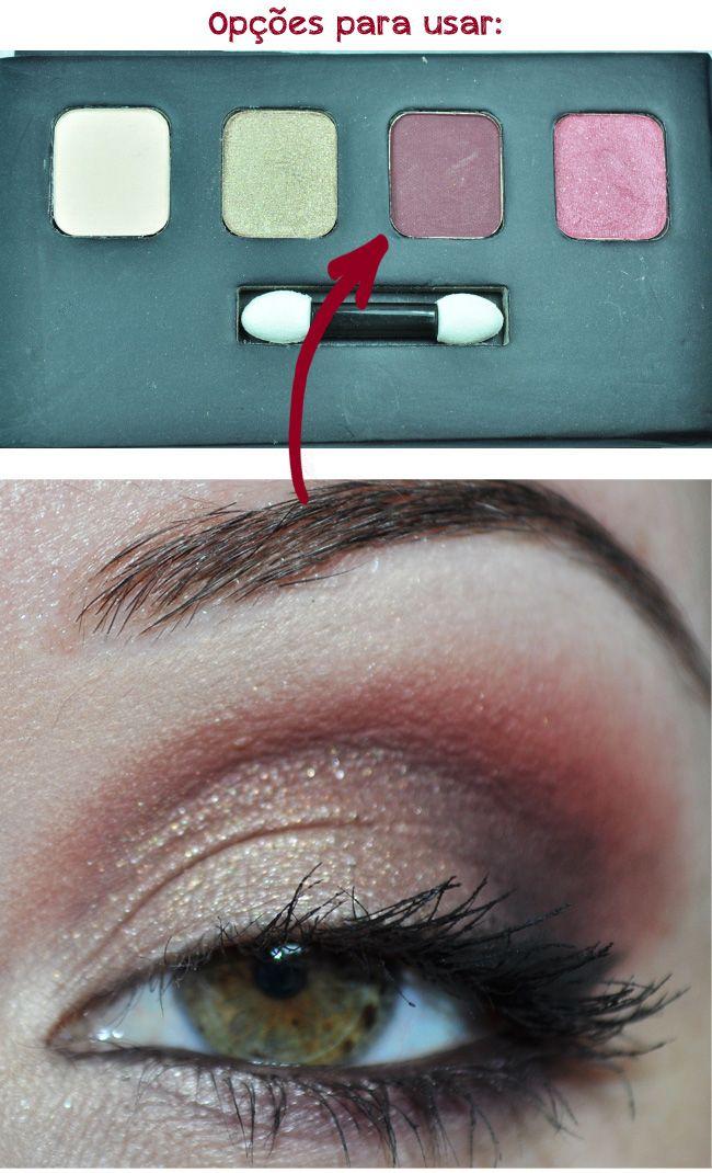 Maquiagem borgonha feita com a paleta Pausa Para Feminices. Olhos de Tatiana Michels.