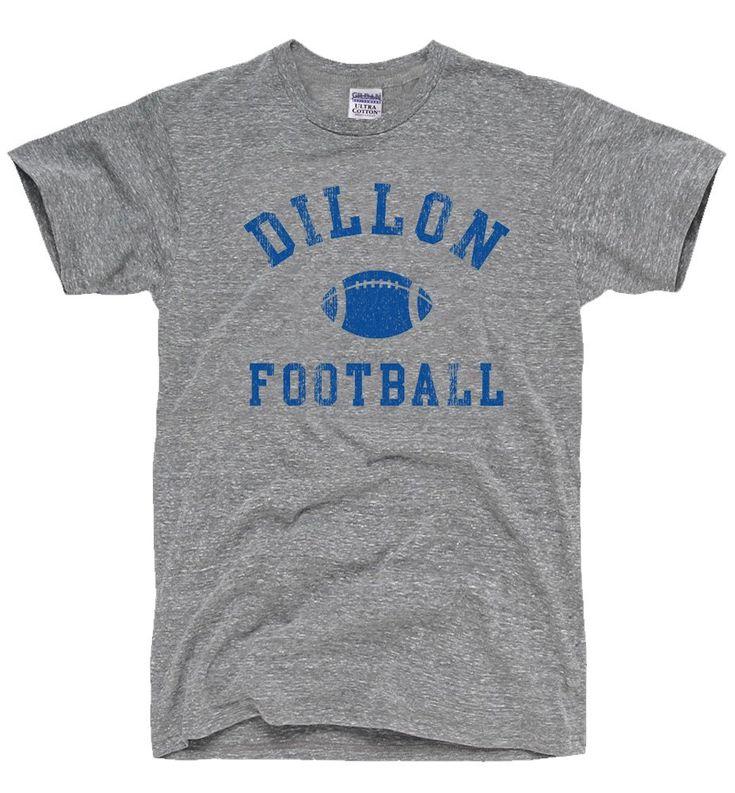 DirtyRagz Men's Dillon Panthers Football T-Shirt Heather GREY (size large)