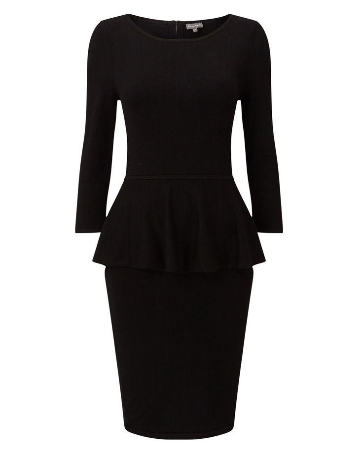Phase Eight Maritza Peplum Dress Black