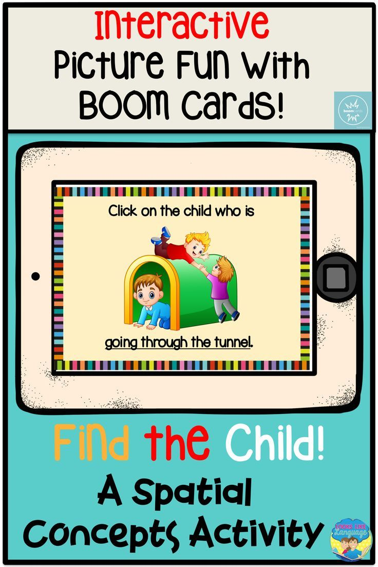 Working On Following Directions With Spatial Concepts Is Lots Of Fun With This Interactive No Prep Boom Ca Speech Therapy Speech And Language Spatial Concepts [ 1104 x 736 Pixel ]