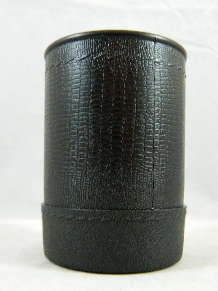Vintage Black Milton Bradley Triple Yahtzee Dice Cup Holder Shaker Replacement #MiltonBradley