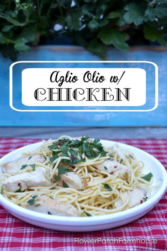 Aglio Olio with Delicious Chicken is a budget friendly, easy dish to prepare. Perfect for a weeknight dinner! AD  @FosterFarms