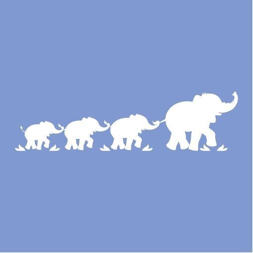 Parade of Elephants Wall Mural