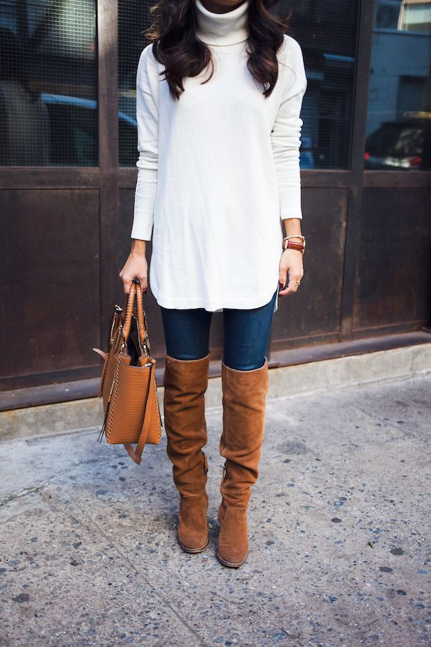 nordstrom sweater, over the knee boots, fall style, the view from 5 ft. 2, new york bloggers
