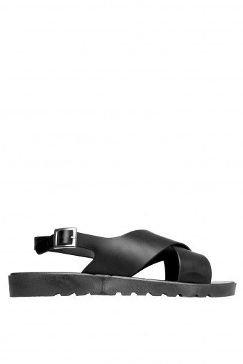 Daiki Jelly Strap Sandals black