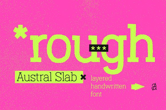 Austral Slab Rough Font  ~70%OFF!   @creativemarket