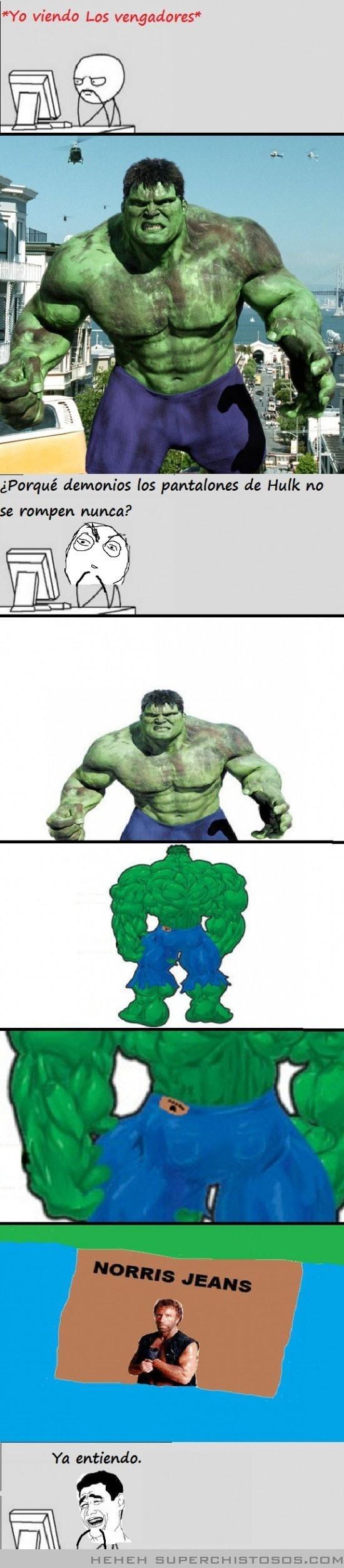 Los pantalones de Hulk