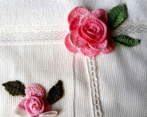 Cotton velvet towel/rosy towel/towel/bathroom/hand by SultanTowels