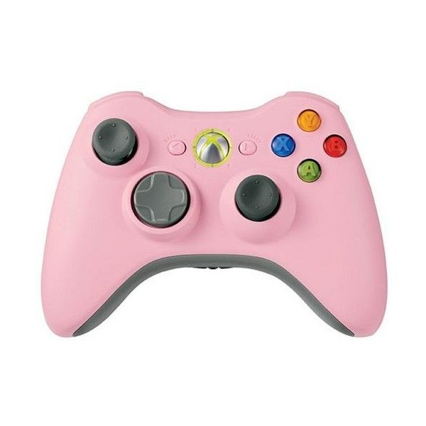 Xbox 360 Wireless Controller Pink ($140) ❤ liked on Polyvore featuring fillers, electronics, accessories, extras and other