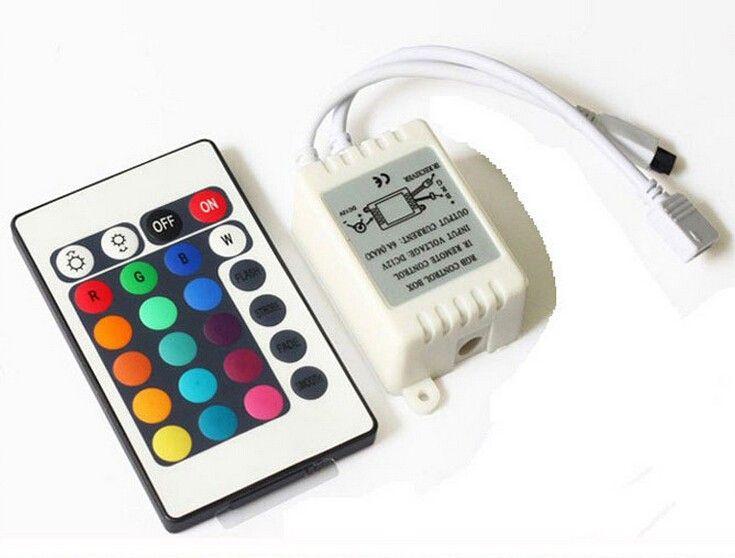 Led strip 12 V 24 Keys IR Remote Controller untuk SMD2835 Wirlesss LED Strip LED RGB Kotak Kontrol Dimmer RGB Controller tidak baterai