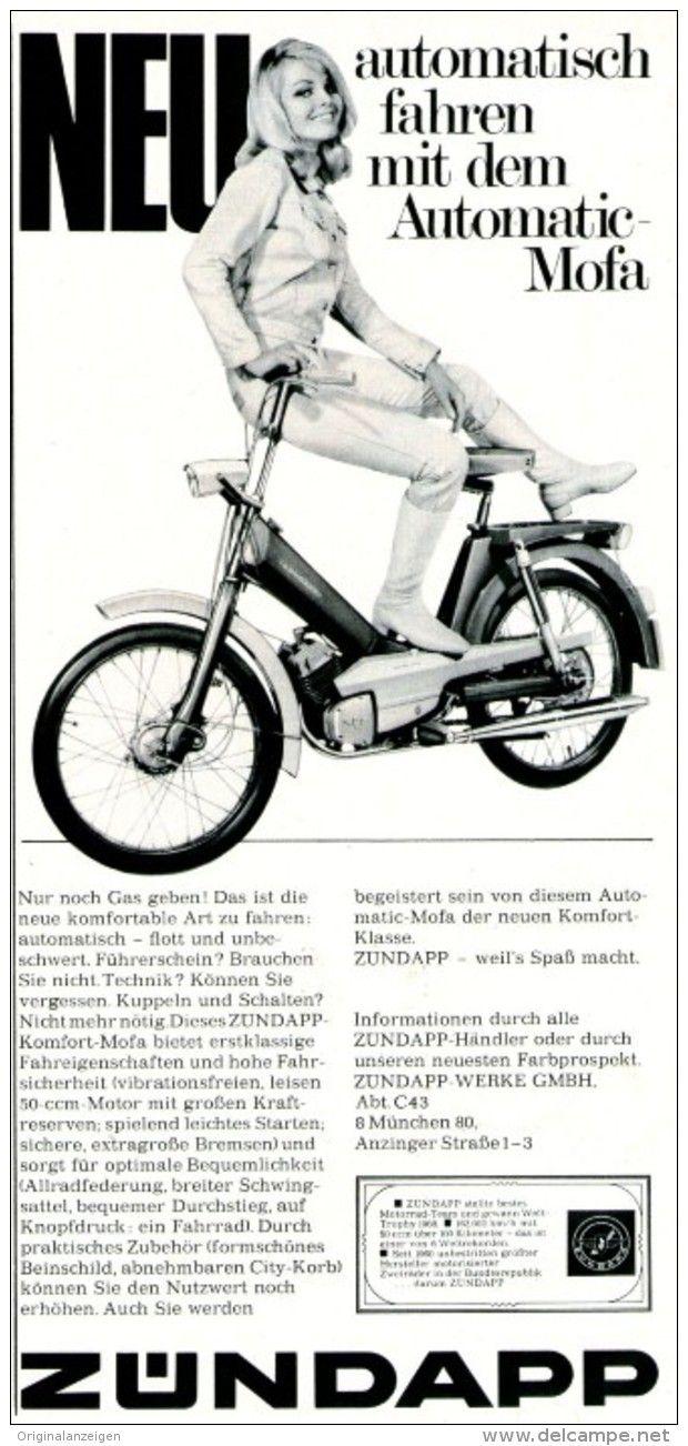 Original-Werbung/ Anzeige 1969 - ZÜNDAPP AUTOMATIC MOFA - ca. 110 x 240 mm
