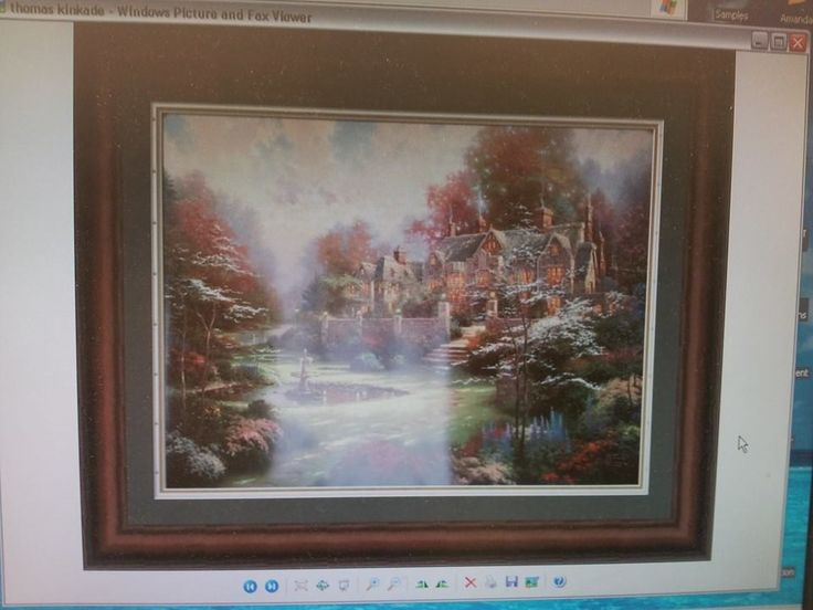 thomas kinkade print that i almost had the pleasure of framing a few months back