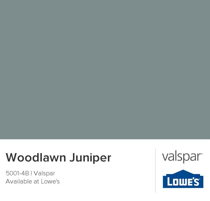 Valspar Paint Color Chip Woodlawn Juniper Color
