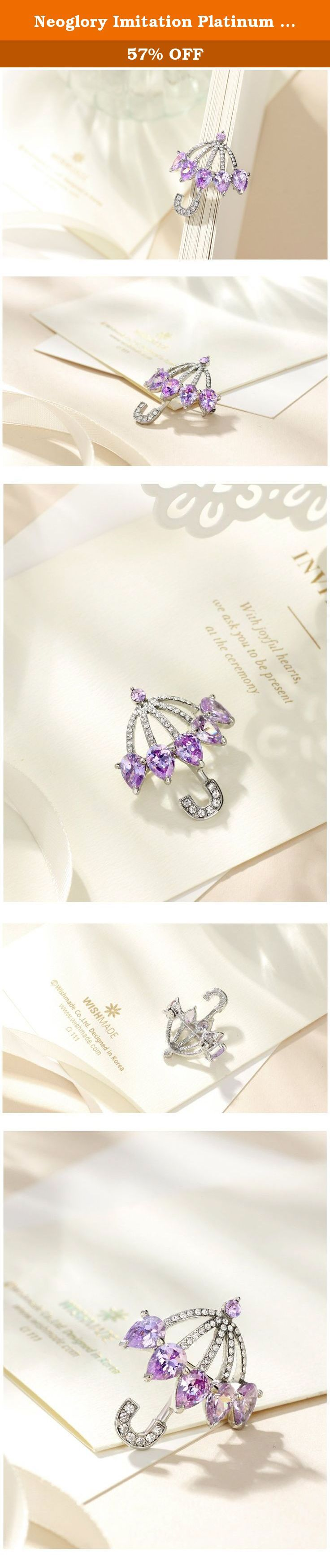 Neoglory Imitation Platinum Plated Cubic Zirconia CZ Purple Umbrella Brooch Pins. NEOGLORY JEWELRY IS... Neoglory Jewelry is the biggest synthetic jewelry enterprise in china, founded in 1995. We possess the world's largest fashion jewelry production base, covering an area of about 13.4 hectares and holding nearly 3000 staffs. As a leading enterprise in China's fashion jewelry industry, Neoglory is equipped with a remarkable advantage in the integration of supply chains, thus providing a...