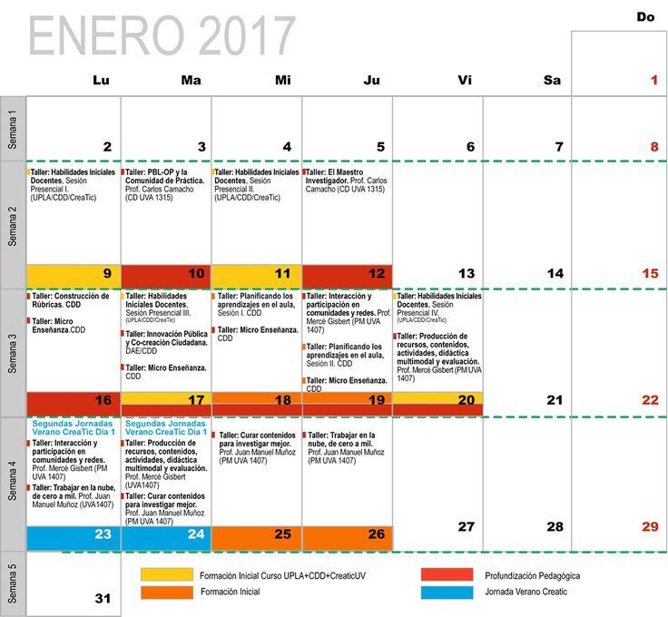 Programa de Formación Docente Enero 2017, universidad de Valparaíso, División Académica, Jornada Creatic Verano 2017