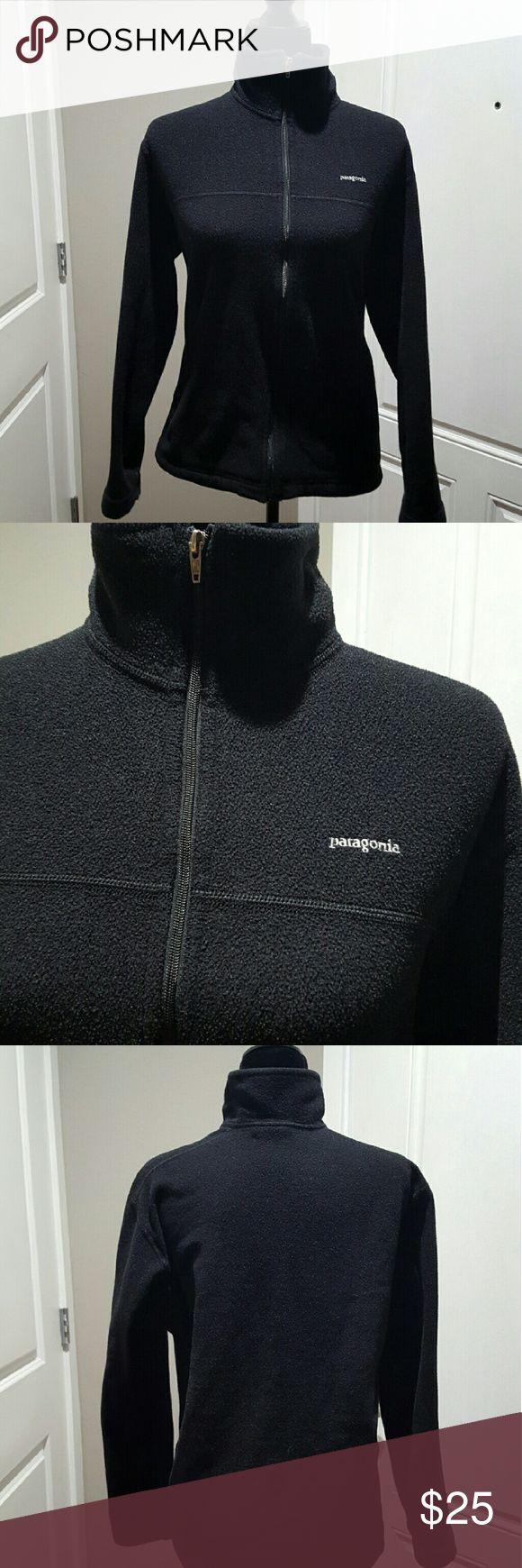 Women's black Patagonia fleece jacket, medium Women's black Patagonia fleece jacket. Light weight and warm. Size medium.  No stains or tares. Patagonia Tops Sweatshirts & Hoodies