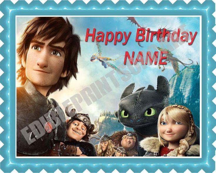 How To Train Your Dragon 2 BirthdayCakeORCupcake Topper – Edible Prints On Cake (EPoC)